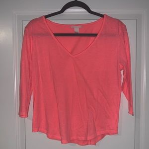 Plain hot pink top